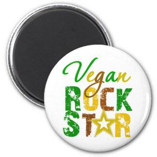 Estrella del rock del vegano imán redondo 5 cm