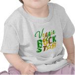 Estrella del rock del Veggie Camiseta