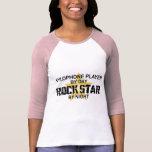 Estrella del rock del xilófono por noche camiseta