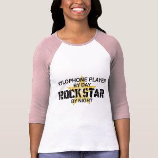Estrella del rock del xilófono por noche playera