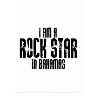 Estrella del rock en Bahamas Postales