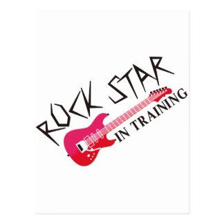 Estrella del rock en el entrenamiento postal
