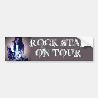 Estrella del rock en el viaje (personalizable) pegatina para auto