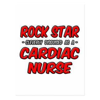 Estrella del rock. Enfermera cardiaca Tarjeta Postal