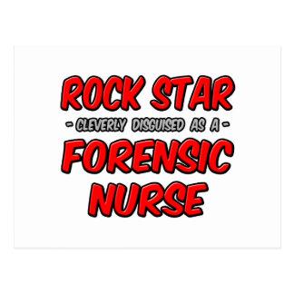 Estrella del rock. Enfermera forense Postales