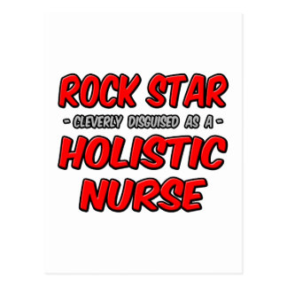 Estrella del rock. Enfermera holística Tarjetas Postales