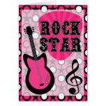 Estrella del rock felicitación