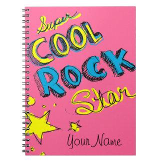 Estrella del rock fresca estupenda libreta