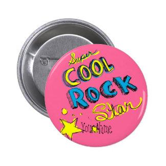 Estrella del rock fresca estupenda pin