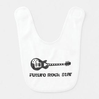 Estrella del rock futura baberos para bebé