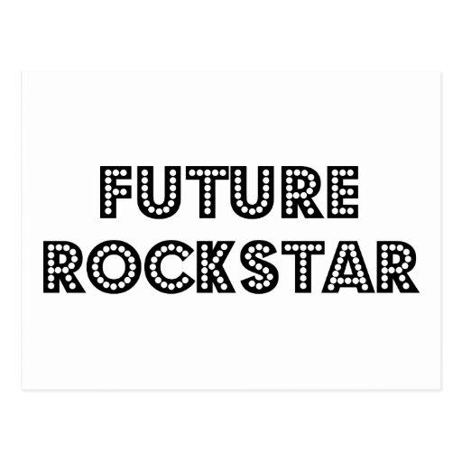 Estrella del rock futura postales
