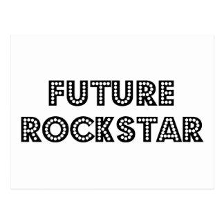 Estrella del rock futura tarjeta postal