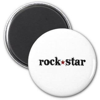 Estrella del rock imán redondo 5 cm