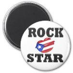 Estrella del rock imán