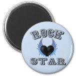 Estrella del rock iman para frigorífico