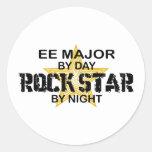 Estrella del rock importante de EE por noche Pegatinas Redondas