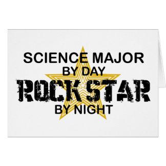 Estrella del rock importante de la ciencia por noc tarjeton