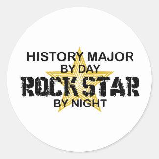 Estrella del rock importante de la historia pegatina redonda