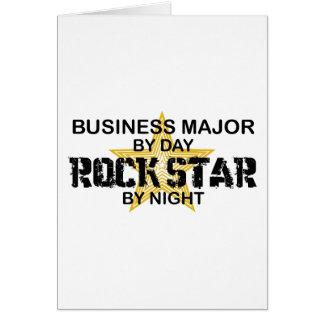 Estrella del rock importante del negocio tarjeta de felicitación