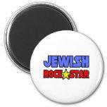 Estrella del rock judía iman de frigorífico