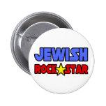 Estrella del rock judía pin