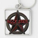 Estrella del rock llavero