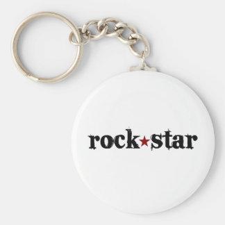 Estrella del rock llavero personalizado