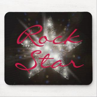 Estrella del rock Mousepad Tapetes De Raton