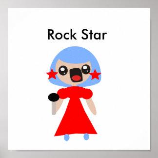 Estrella del rock impresiones