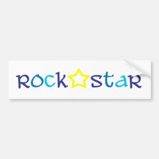 Estrella del rock pegatina para auto