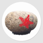 Estrella del rock pegatina redonda