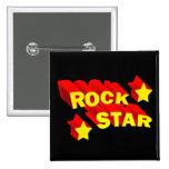 Estrella del rock pins