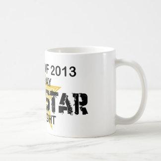 Estrella del rock por la noche - 2013 tazas de café