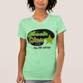 Estrella del rock por la noche - tecnología del camisetas