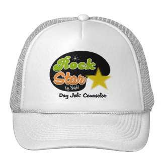 Estrella del rock por noche - consejero del trabaj gorras