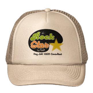 Estrella del rock por noche - consultor del trabaj gorra