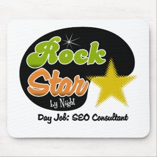 Estrella del rock por noche - consultor del trabaj alfombrilla de ratones
