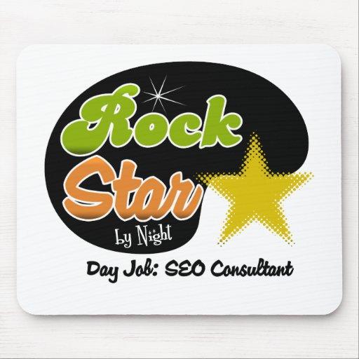 Estrella del rock por noche - consultor del trabaj tapetes de ratón
