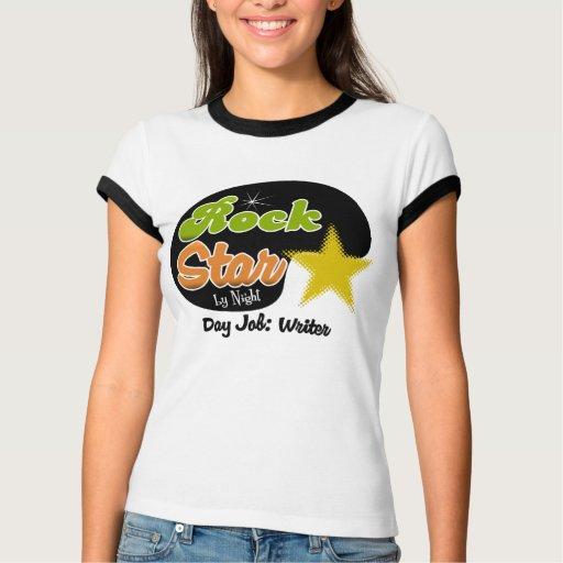 Estrella del rock por noche - escritor del trabajo camisas