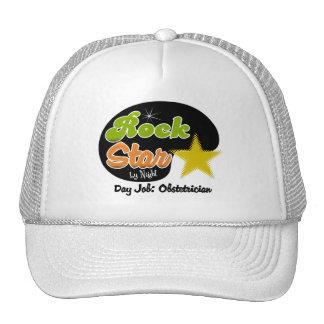 Estrella del rock por noche - obstétrico del traba gorras de camionero
