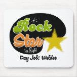 Estrella del rock por noche - soldador del trabajo alfombrillas de raton