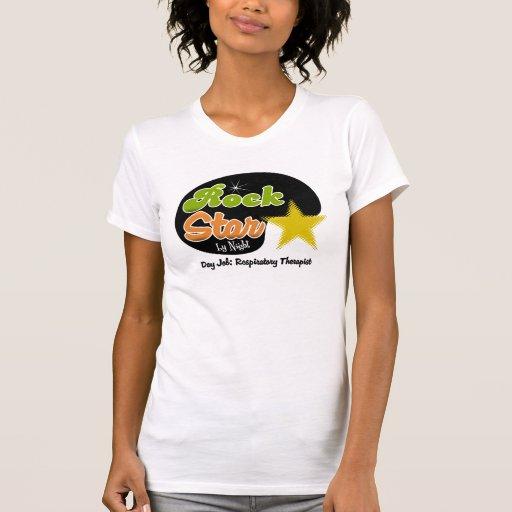 Estrella del rock por noche - terapeuta respirator camiseta