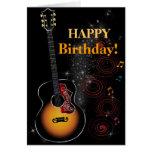Estrella del rock - postal tarjeta de felicitación