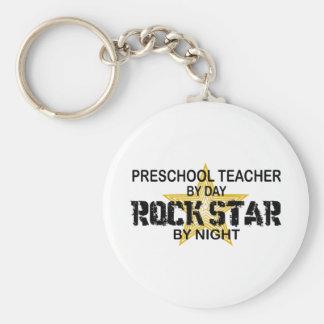 Estrella del rock preescolar por noche llaveros