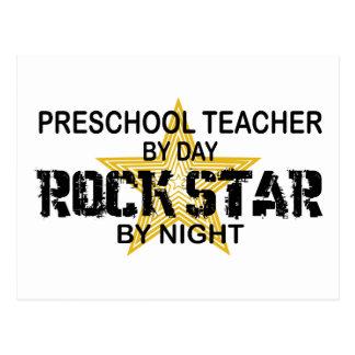 Estrella del rock preescolar por noche tarjetas postales