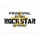 Estrella del rock principal por noche postales