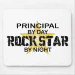 Estrella del rock principal por noche alfombrilla de raton