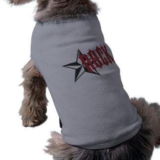 Estrella del rock playera sin mangas para perro