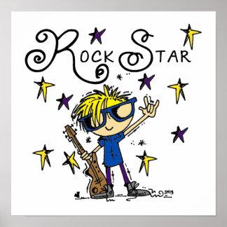 Estrella del rock rubia del muchacho posters