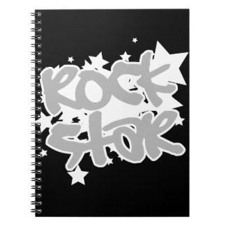 Estrella del rock spiral notebook